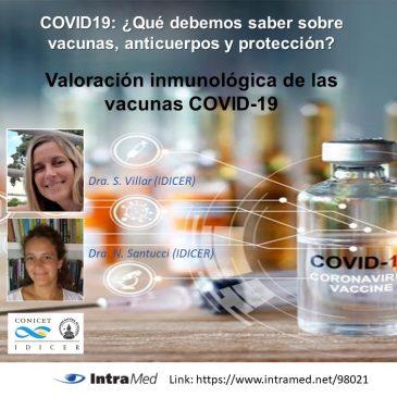 COVID19: ¿Qué debemos saber sobre vacunas, anticuerpos y protección?